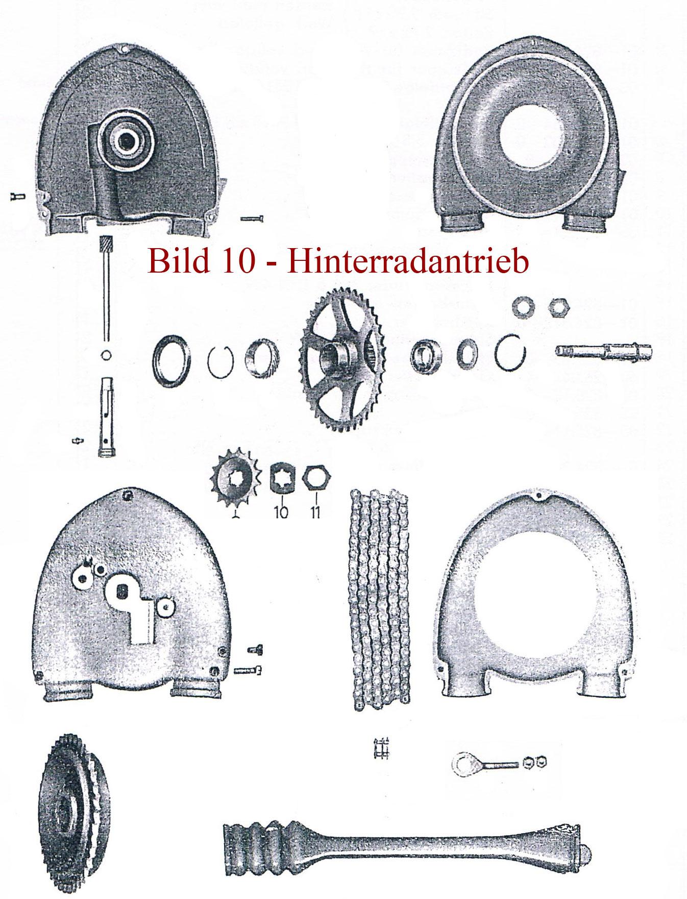 Ersatzteile zum Hinterradantrieb IFA MZ RT 125