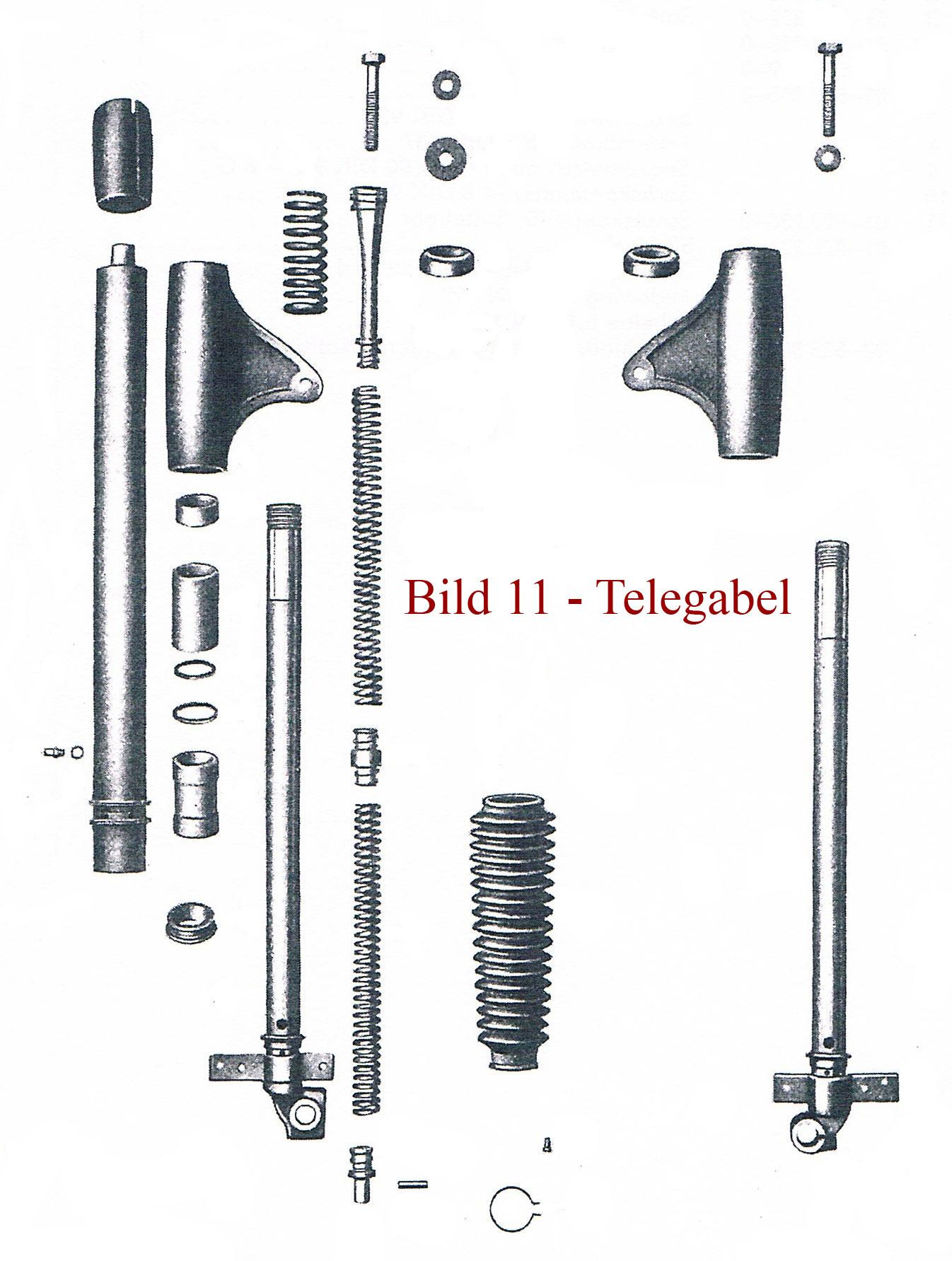 Ersatzteile zur Telegabel IFA MZ RT 125