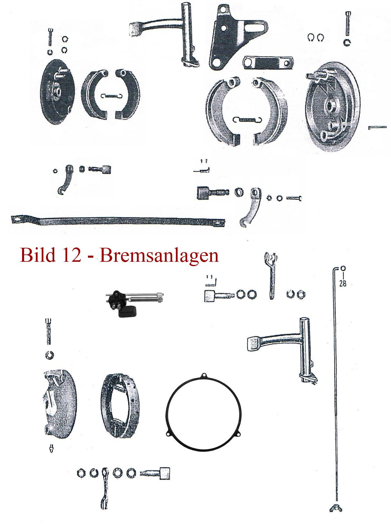 Ersatzteile zur Bremsanlage IFA MZ RT 125