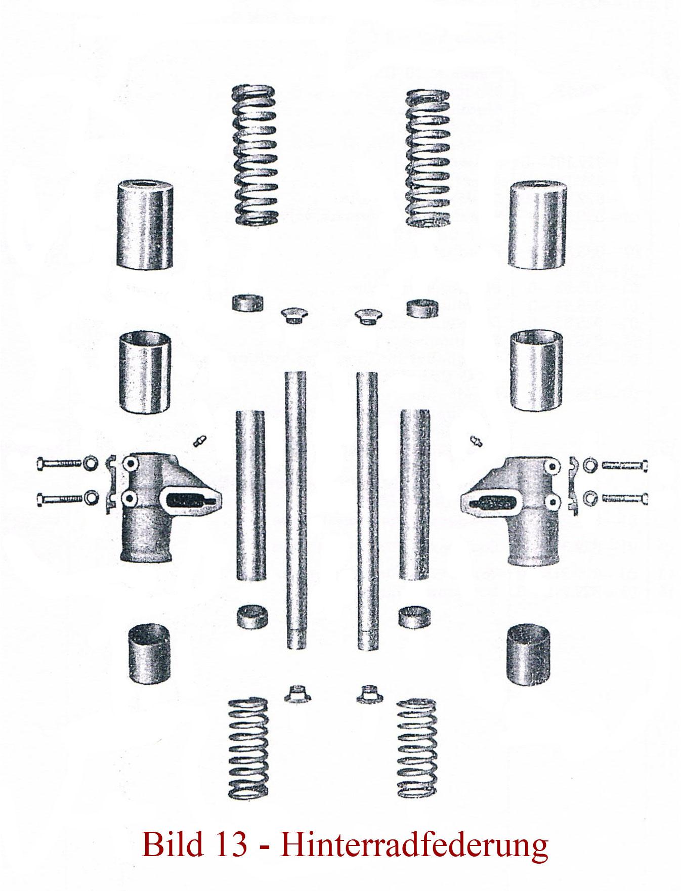 Ersatzteile zur Hinterradfederung IFA MZ RT 125