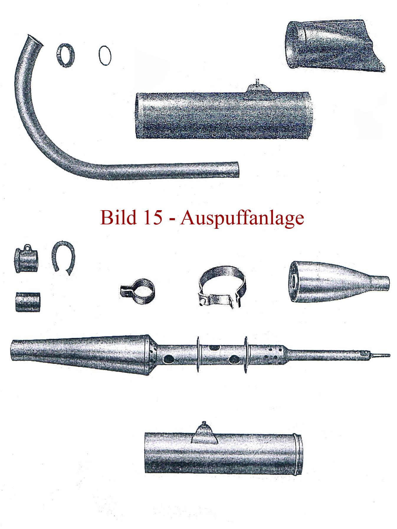 Ersatzteile zur Auspuffanlage IFA MZ RT 125