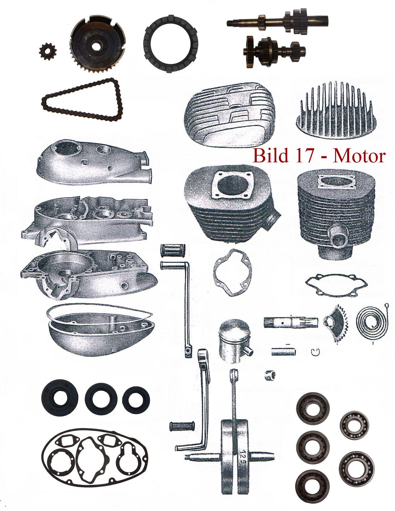 Ersatzteile zum Motor IFA MZ RT 125