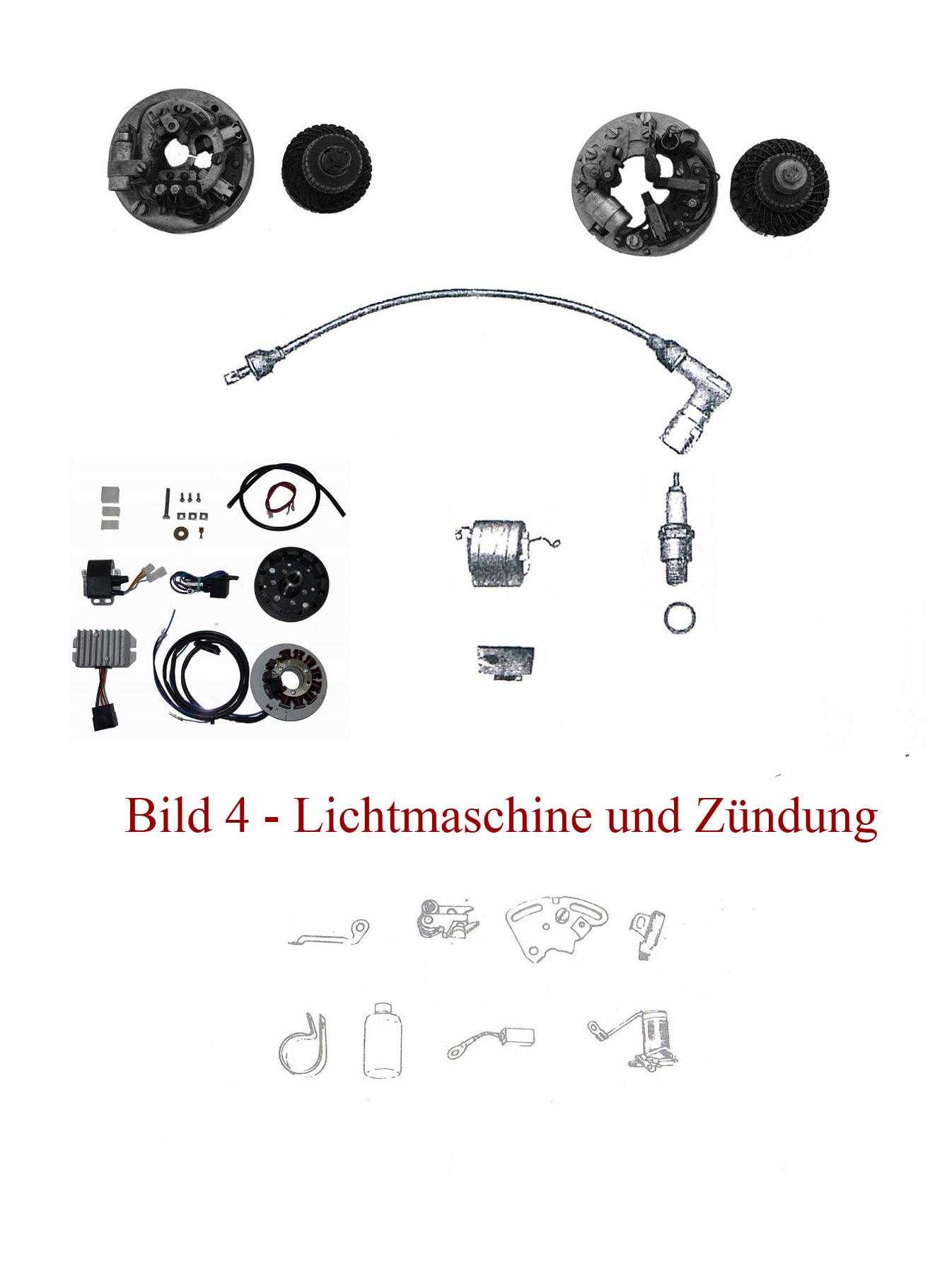 Ersatzteile zu Lichtmaschine und Zündung IFA MZ RT 125