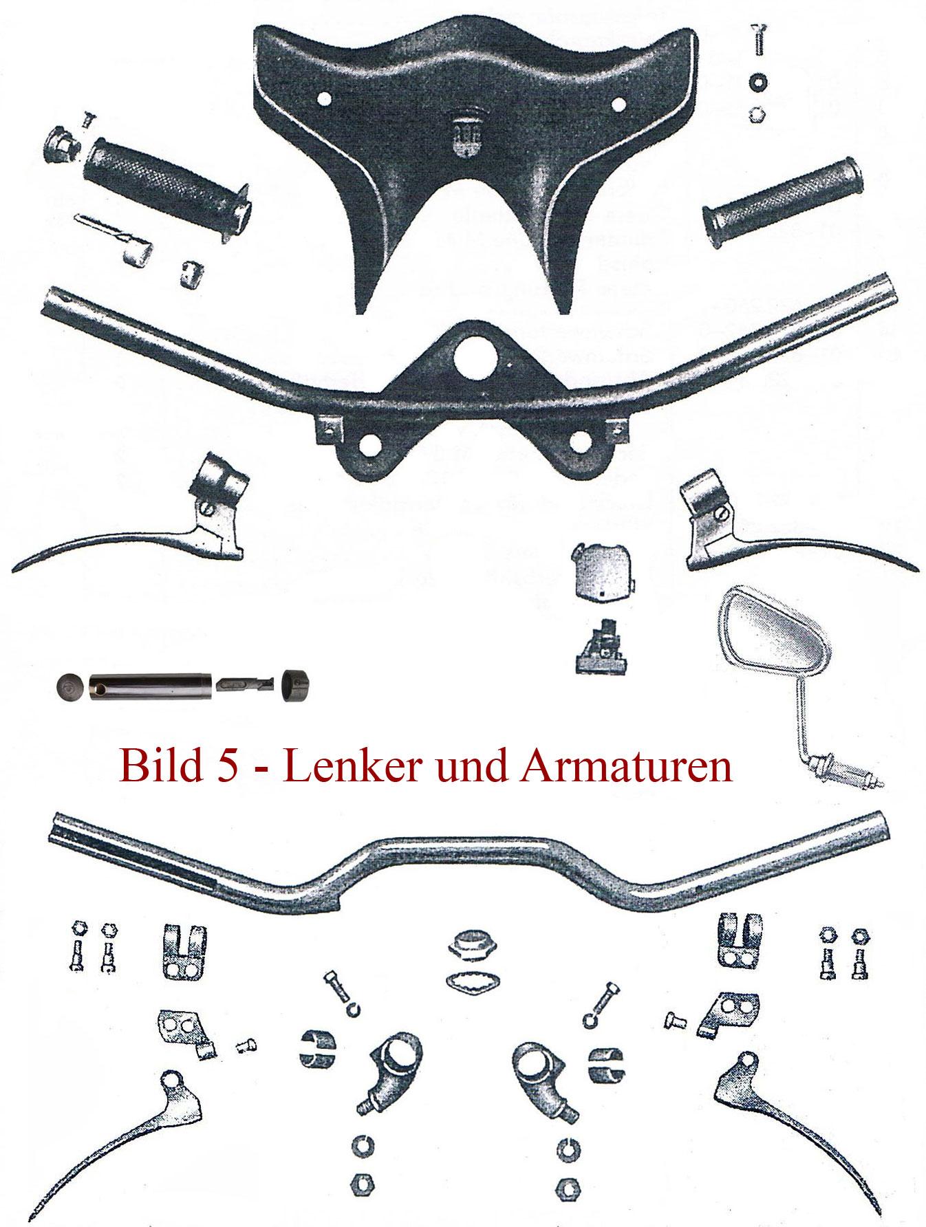 Ersatzteile zu Lenker und Armaturen IFA MZ RT 125