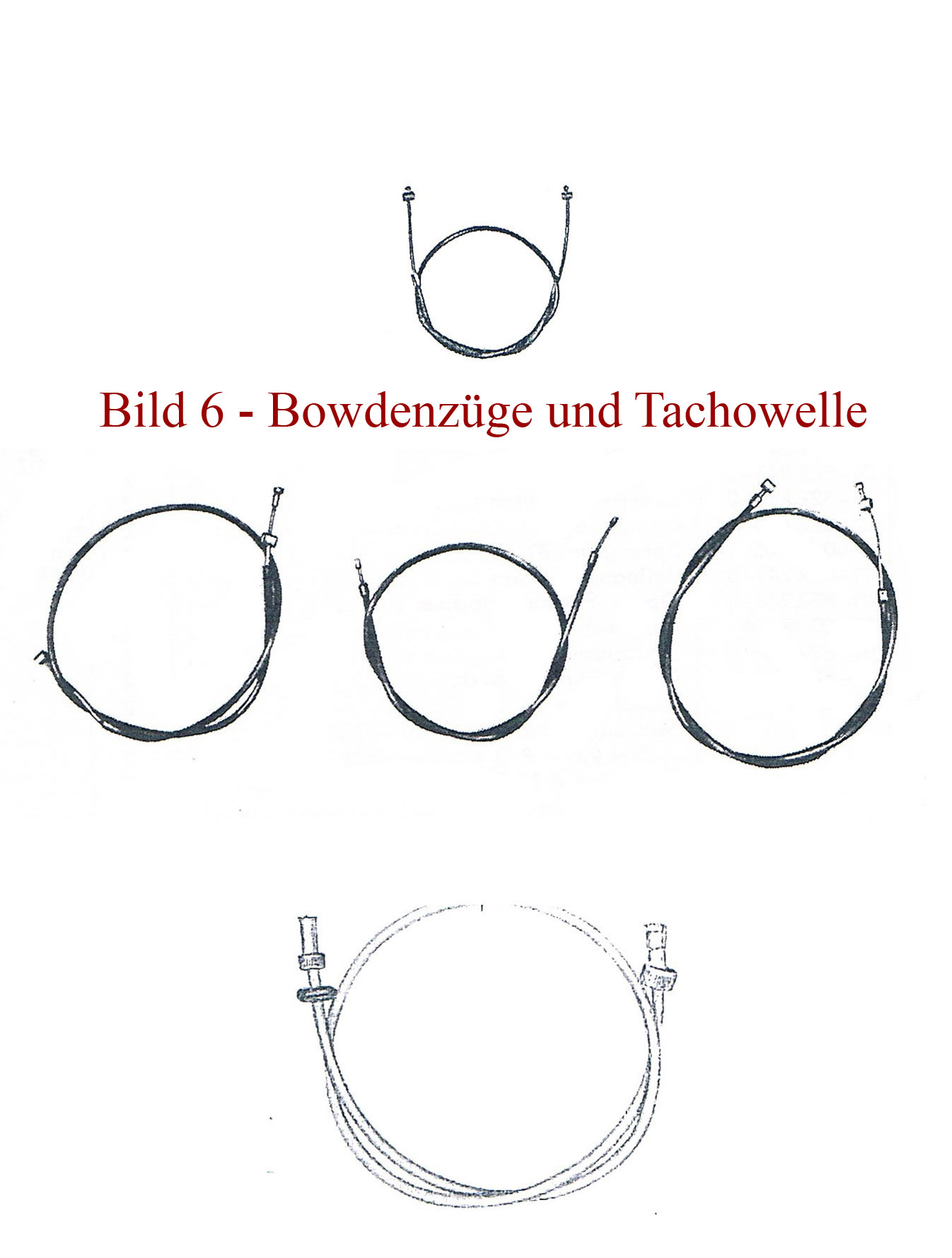 Ersatzteile zu Bowdenzügen IFA MZ RT 125