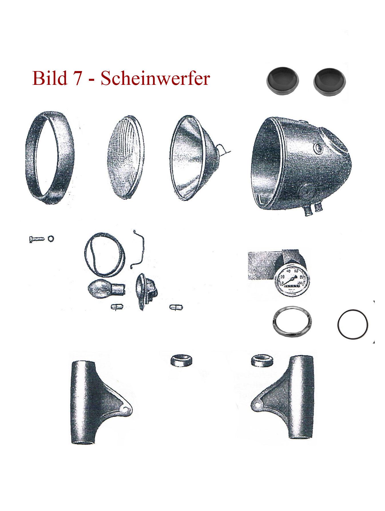 Ersatzteile zum Scheinwerfer IFA MZ RT 125